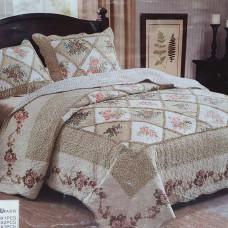 Лоскутное покрывало на кровать с наволочками QW-202