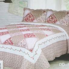 Хлопковое покрывало на кровать с наволочками QW-271