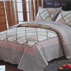 Пэчворк покрывало на кровать с наволочками QW-211