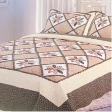 Хлопковое покрывало на кровать с наволочками QW-244