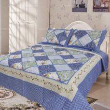 Хлопковое покрывало на кровать с наволочками QW-215
