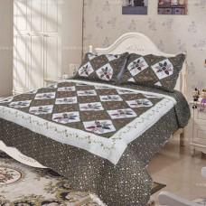 Хлопковое покрывало на кровать с наволочками QW-219