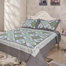 Хлопковое покрывало на кровать с наволочками QW-222
