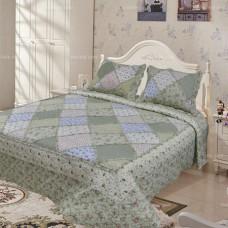 Хлопковое покрывало на кровать с наволочками QW-257