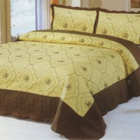 Хлопковое покрывало на кровать с наволочками QW-262