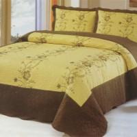 Хлопковое покрывало на кровать с наволочками QW-264