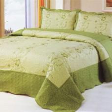 Хлопковое покрывало на кровать с наволочками QW-265