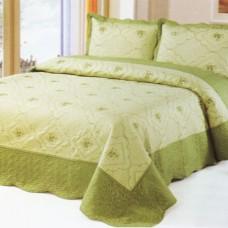 Хлопковое покрывало на кровать с наволочками QW-267
