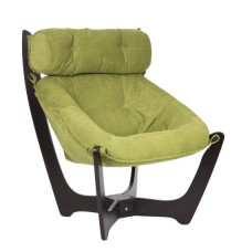 Кресло для отдыха модель 11 каркас Венге ткань Verona Apple Green