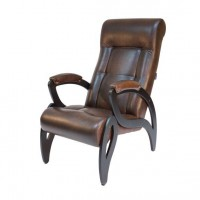 Кресло для отдыха модель 51 каркас Венге экокожа Античный Крокодил