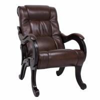 Кресло для отдыха модель 71 каркас Венге экокожа Античный Крокодил