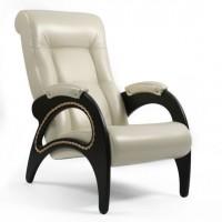 Кресло для отдыха модель 41 каркас Венге экокожа Орегон перламутр-106