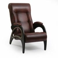 Кресло для отдыха модель 41 каркас Венге экокожа Античный Крокодил
