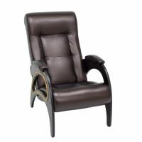 Кресло для отдыха модель 41 каркас Венге экокожа Орегон перламутр-120