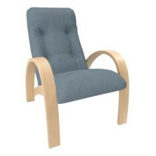 Кресло для отдыха модель S7 каркас Натуральное дерево ткань Montana-602