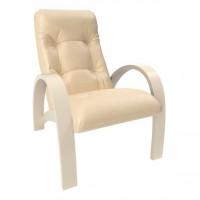 Кресло для отдыха модель S7 каркас Дуб шампань экокожа Polaris Beige