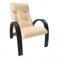 Кресло для отдыха модель S7 каркас Венге экокожа Polaris Beige