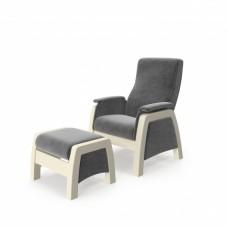 Кресло глайдер с пуфиком модель 101 каркас Дуб шампань ткань Verona Antrazite Grey