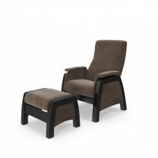 Кресло глайдер с пуфиком модель 101 каркас Венге ткань Verona Brown