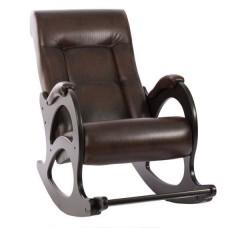 Кресло-качалка с подножкой модель 44 каркас Венге экокожа Античный Крокодил без лозы