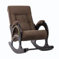 Кресло-качалка с подножкой модель 44 каркас Венге ткань Verona Brown