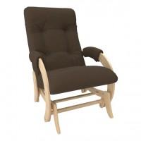 Кресло-качалка глайдер модель 68 каркас Натуральное дерево ткань Montana-802