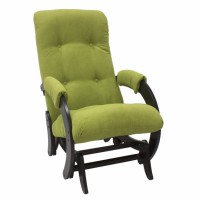 Кресло-качалка глайдер модель 68 каркас Венге ткань Verona Apple Green