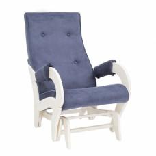 Кресло-качалка глайдер модель 708 каркас Дуб шампань ткань Verona Denim Blue
