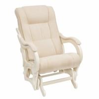 Кресло-качалка глайдер модель 78 каркас Дуб шампань ткань Verona Vanilla