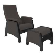 Кресло глайдер с пуфиком модель 101 каркас Венге ткань Montana-802