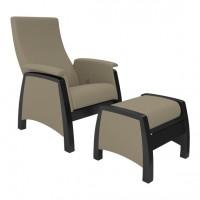 Кресло глайдер с пуфиком модель 101 каркас Венге ткань Montana-904