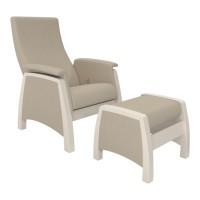Кресло глайдер с пуфиком модель 101 каркас Дуб шампань ткань Montana-902
