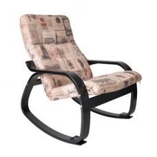 Кресло-качалка Сайма каркас Венге-структура ткань Vinum-02