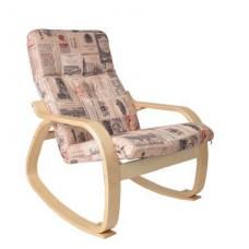 Кресло-качалка Сайма каркас Береза ткань Vinum-02
