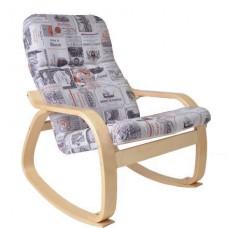 Кресло-качалка Сайма каркас Береза ткань Vinum-03