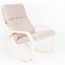 Кресло-качалка Сайма каркас Береза ткань Миндаль