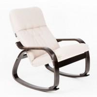 Кресло-качалка Сайма каркас Венге-структура ткань Миндаль