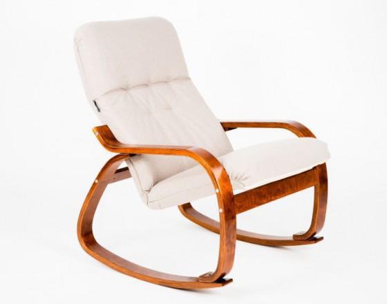 Кресло-качалка Сайма каркас Вишня ткань Миндаль
