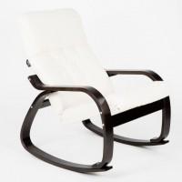 Кресло-качалка Сайма каркас Венге-структура ткань Гардения