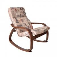 Кресло-качалка Сайма каркас Вишня ткань Vinum-02