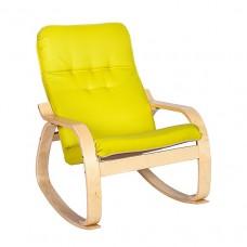 Кресло-качалка Сайма каркас Береза ткань Apple