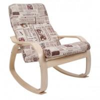 Кресло-качалка Сайма каркас Береза ткань Gazeta-09