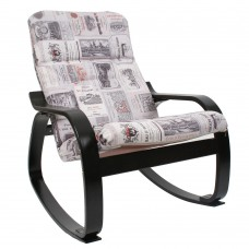 Кресло-качалка Сайма каркас Венге-структура ткань Vinum-03