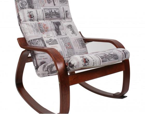 Кресло-качалка Сайма каркас Вишня ткань Vinum-03