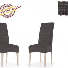 Чехол на стул со спинкой универсальный Ибица Негро (2 шт)