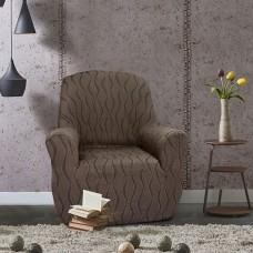 Чехол на кресло универсальный Тоскана Марон