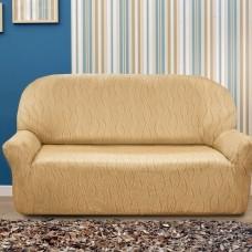 Чехол на диван трехместный. Тоскана Беж Универсальный