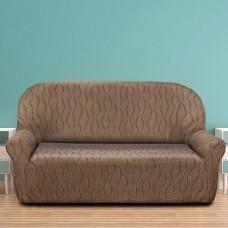 Чехол на трехместный диван универсальный Тоскана Марон