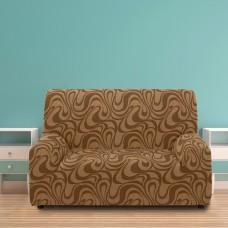 Чехол на двухместный диван универсальный Данубио Марон