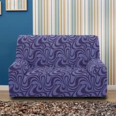 Чехол на двухместный диван универсальный Данубио Азул